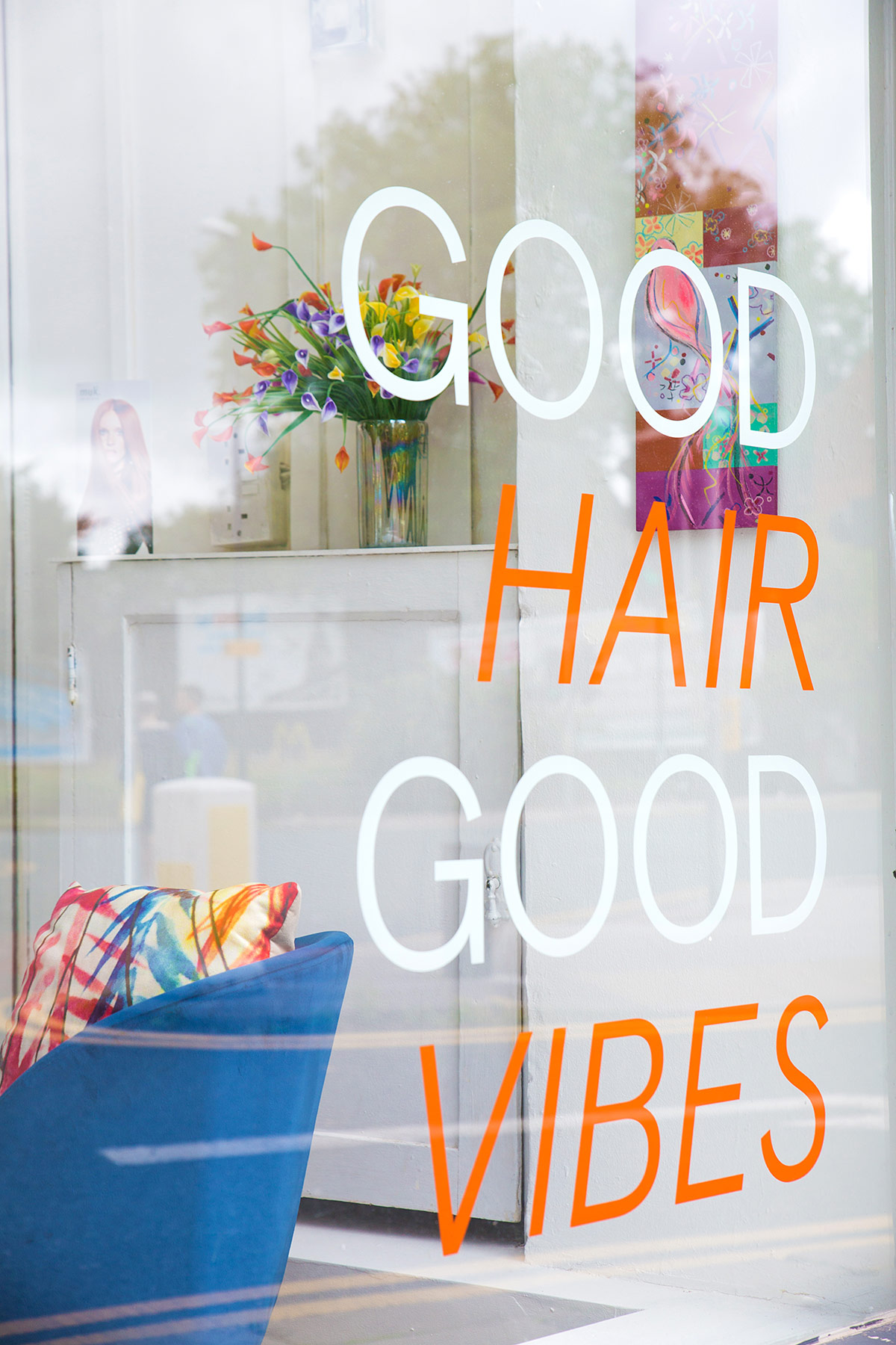 window display | Hair Salon | Nail Treatments | WIP Hair & Beauty | Hyde Park, Leeds
